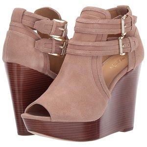 Michael Kors Blaze Open Toe Wedge Dress Boot